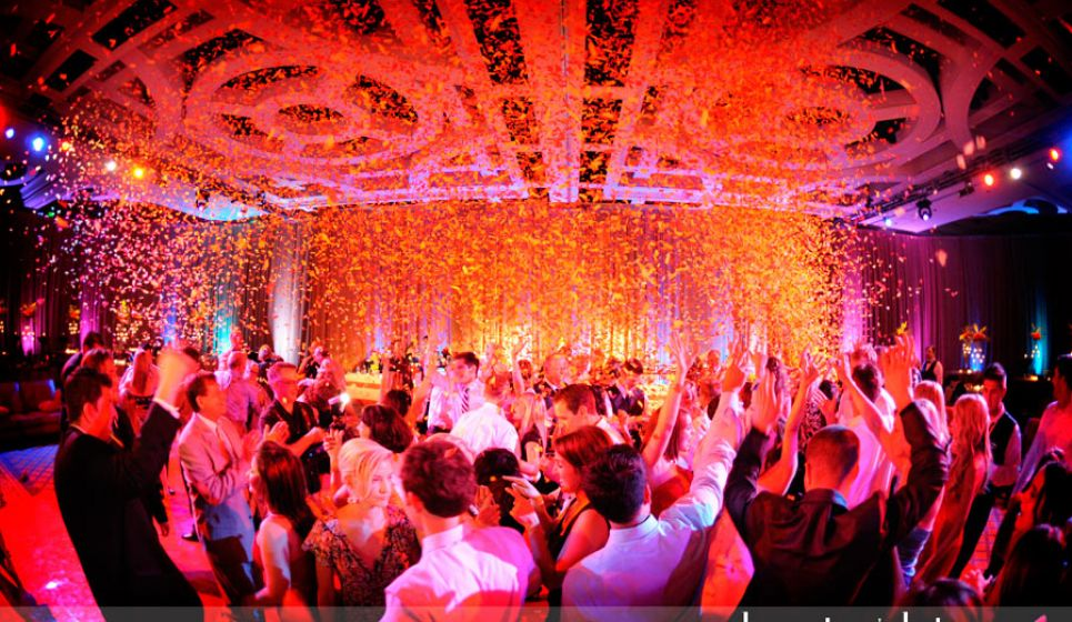 Atomic Wedding DJ Wedding Reception Confetti Blast